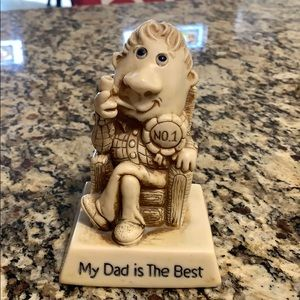 Vintage '78 my Dad is The Best statue. 5 inches.
